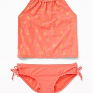 NWT Old Navy Coral Reef Neon Swimsuit